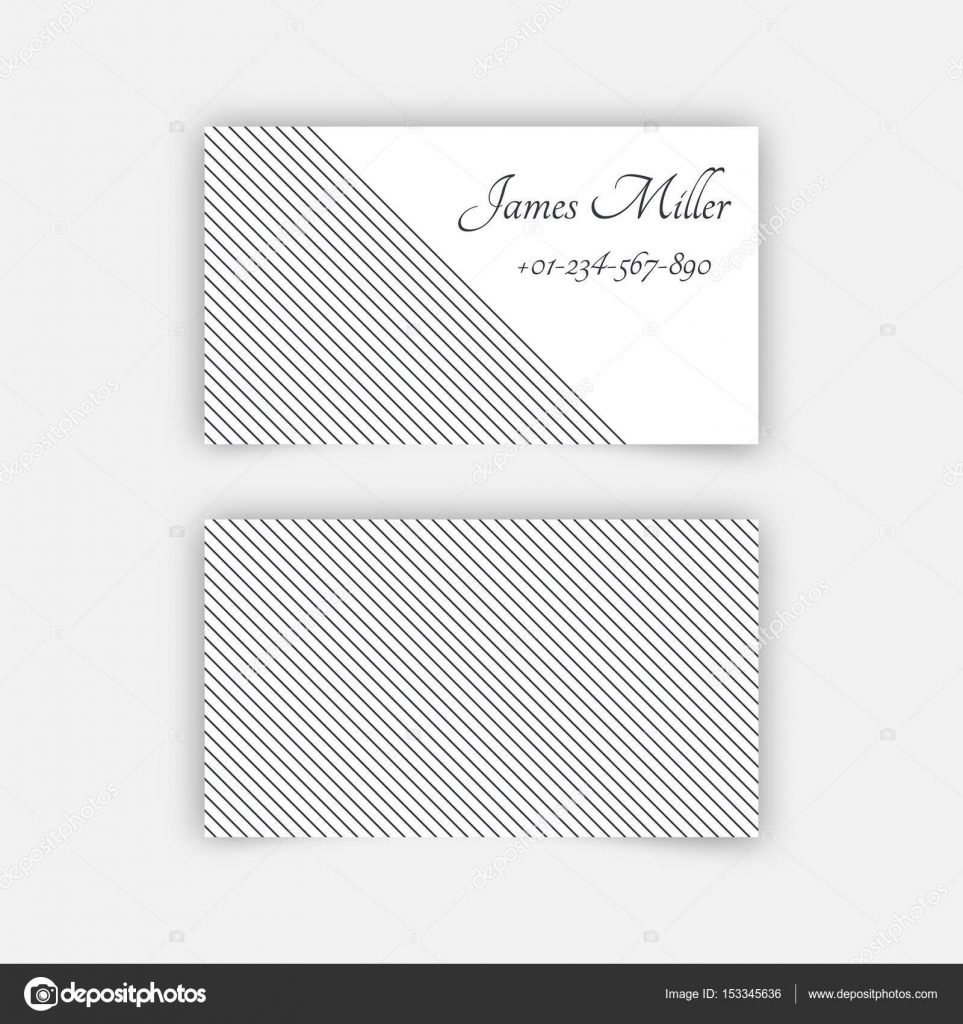 Business card blank template stock vector baretsky 153345636 business card blank template with textured background from thin diagonal lines minimal elegant vector design vector by baretsky fbccfo Image collections