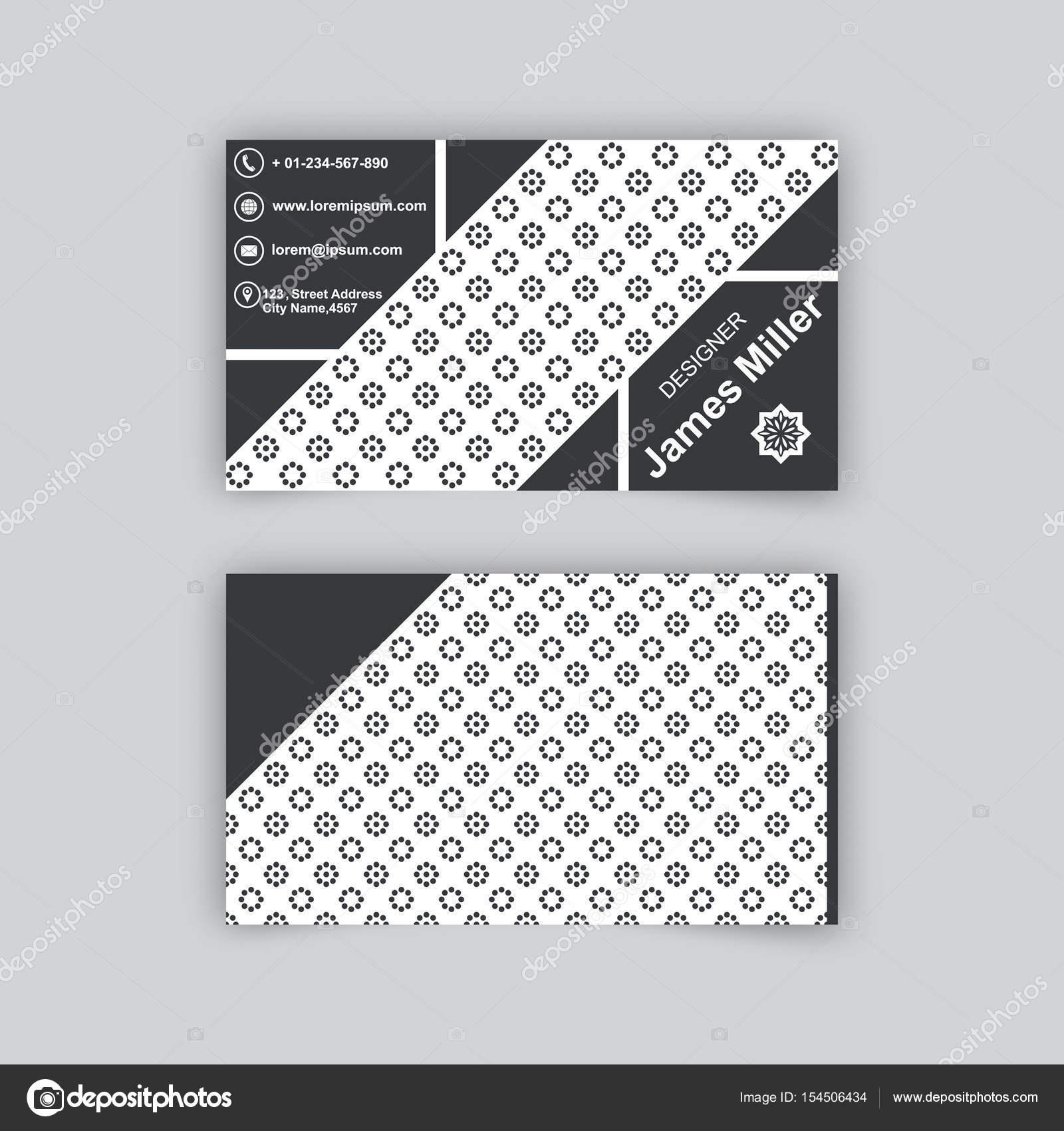 Carte De Visite Modele Vierge Avec Fond Texture Cercles En Pointilles Et Les Triangles Element Vecteur Conception Graphique Par Baretsky