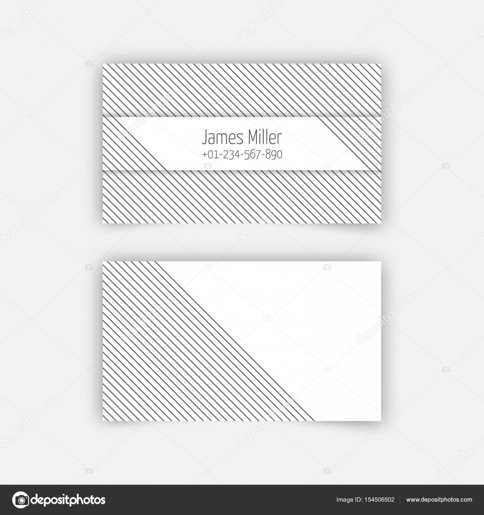 Business card blank template stock vector baretsky 154506502 business card blank template with textured background from thin diagonal lines and simple rectangle banner separated by a shadow cheaphphosting Gallery