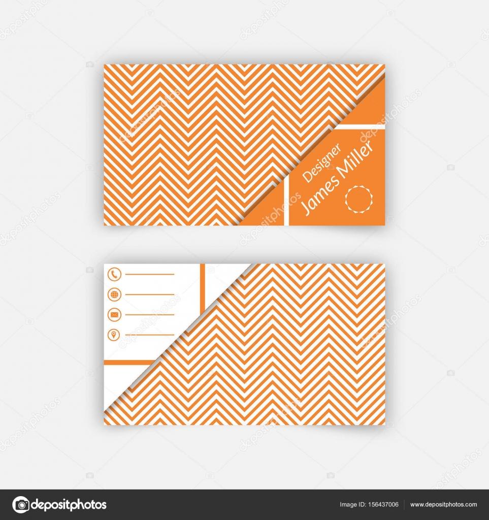 Carte De Visite Modele Blanc Avec Fond Texture Bandes En Zigzag Et Des Formes Triangulaires Conception Vecteur Elegante Minime Par Baretsky