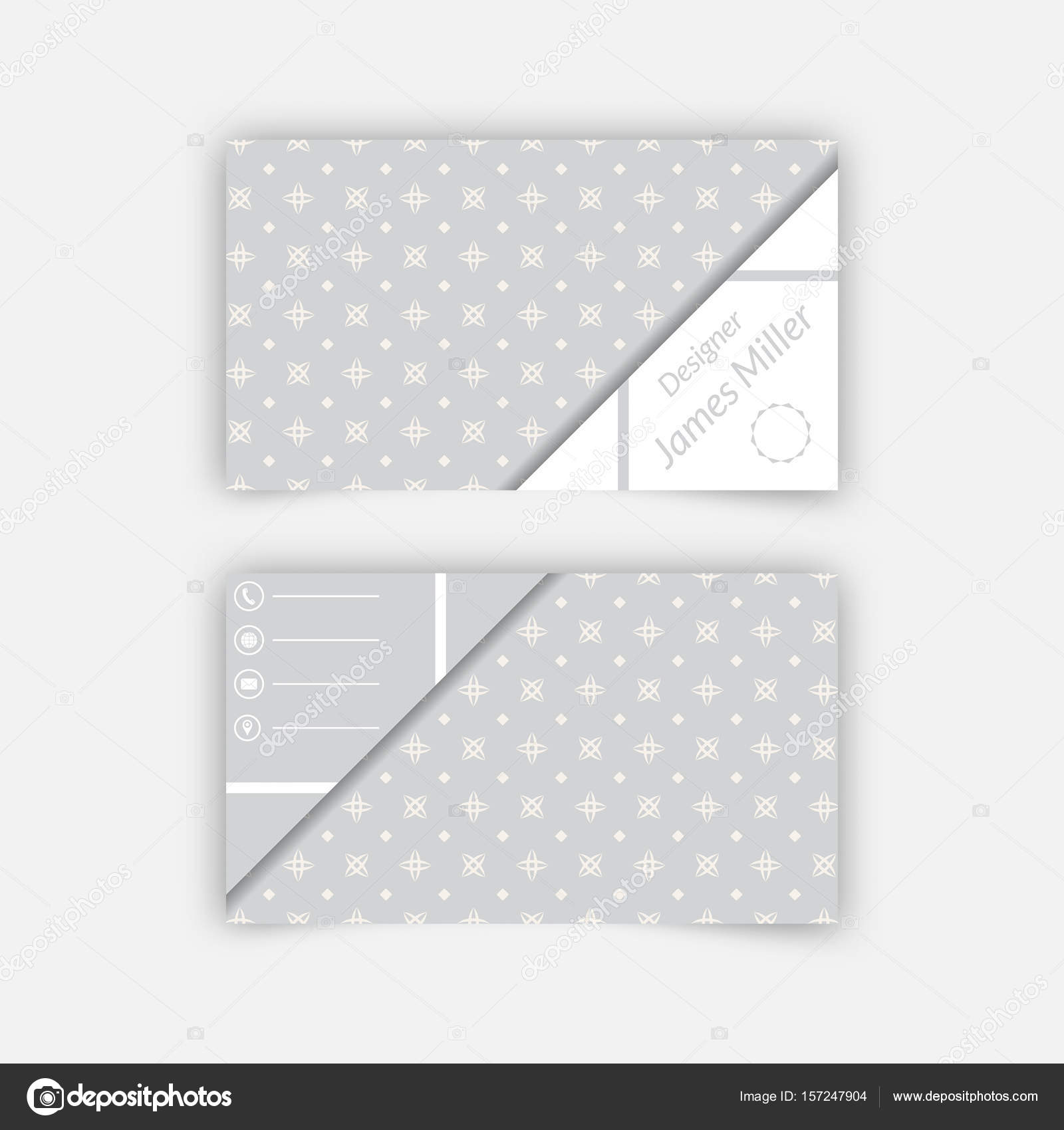 Business card blank template stock vector baretsky 157247904 business card blank template with textured background from stars rhombuses and triangle shape minimal elegant vector design vector by baretsky accmission Gallery