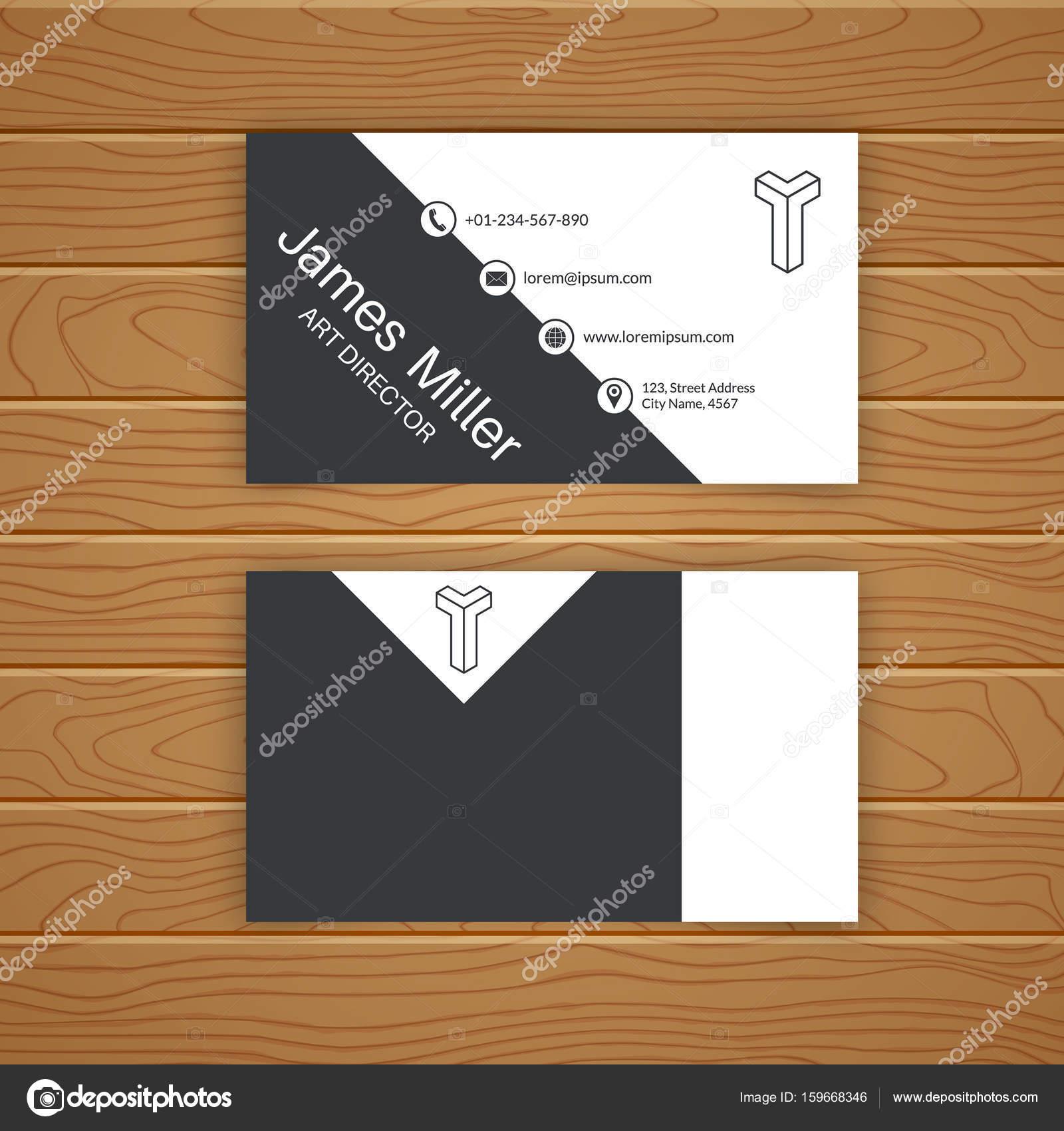 Business card blank template stock vector baretsky 159668346 business card blank template with textured background minimal elegant vector design vector by baretsky wajeb Choice Image