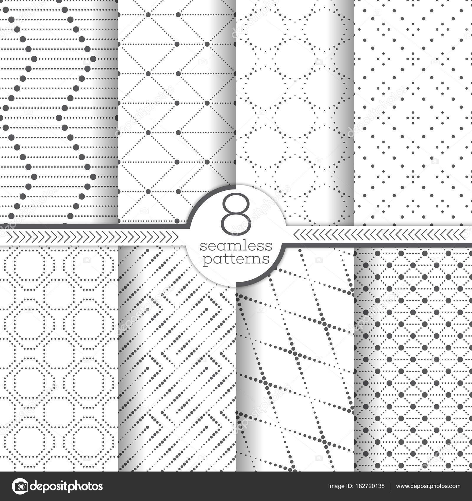 conjunto de patrones sin fisuras vector — Archivo Imágenes ...