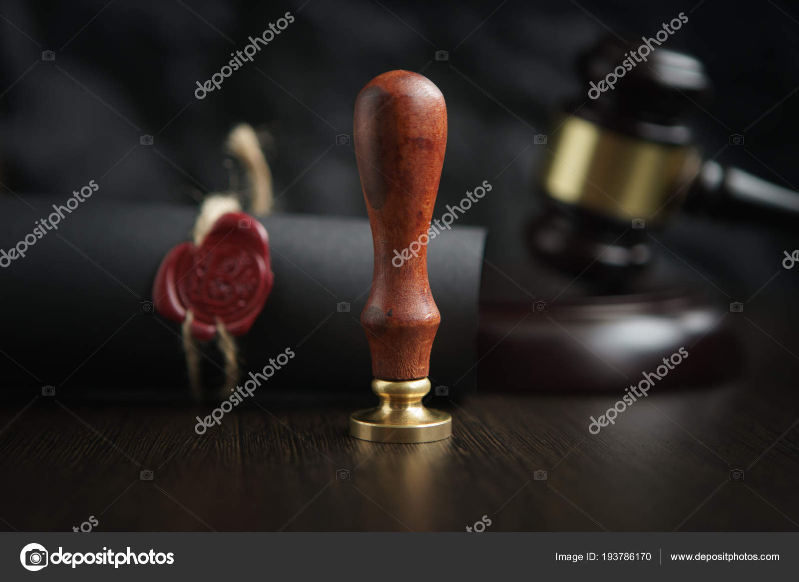 Law Attorney Notary Public Stamp And Pen On Desk Law Will
