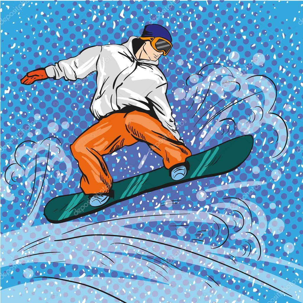 мультяшные картинки сноубордиста является городом развитой