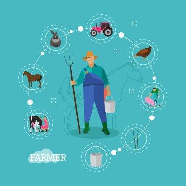 Vector concept illustration on farm theme