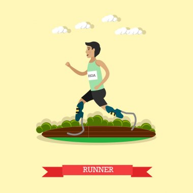 Blade runner vector illustration in flat style