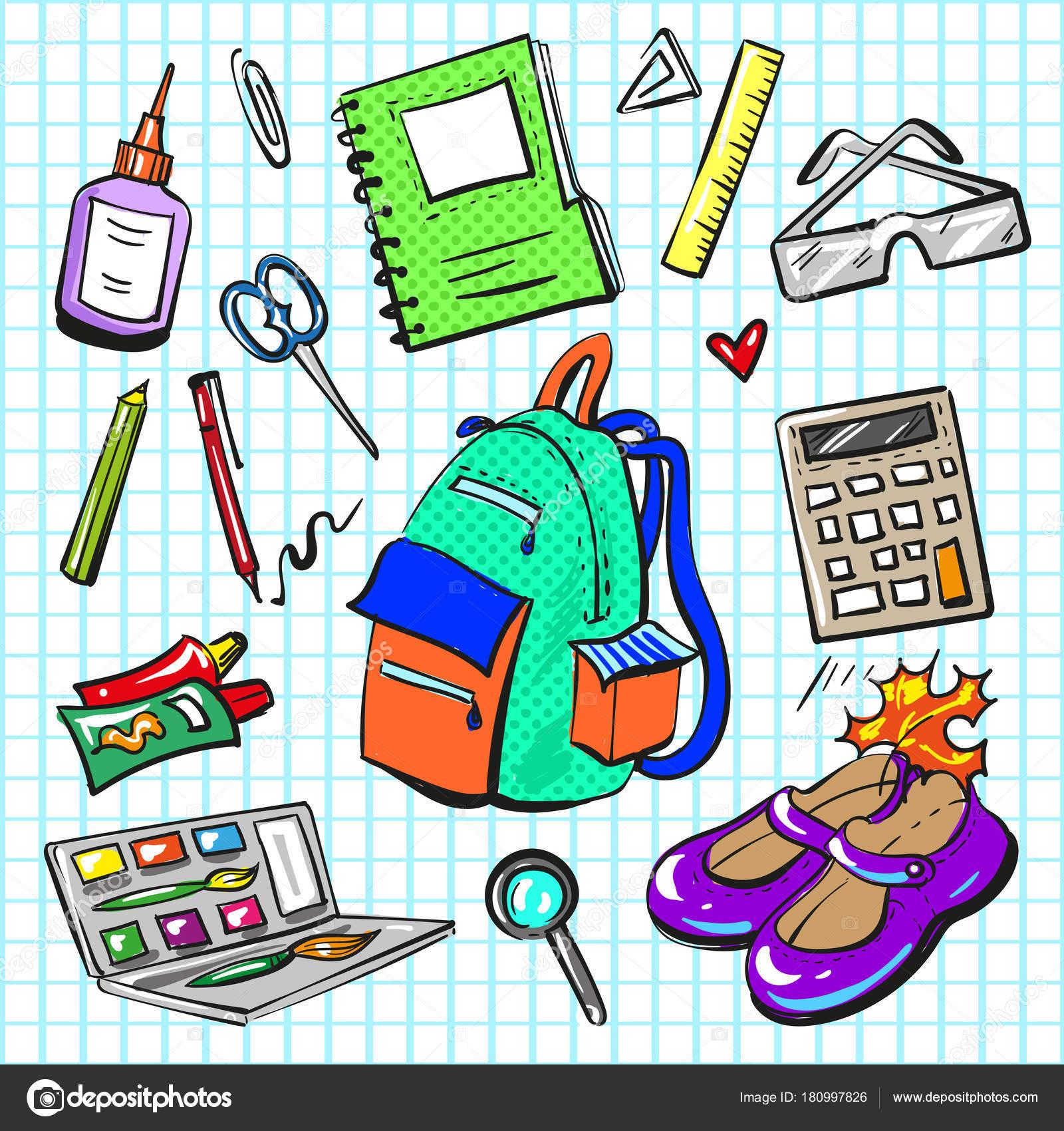 Vektor pop art képregény stílus divat iskolai patch készlet — Stock ... b3ef18b4e2