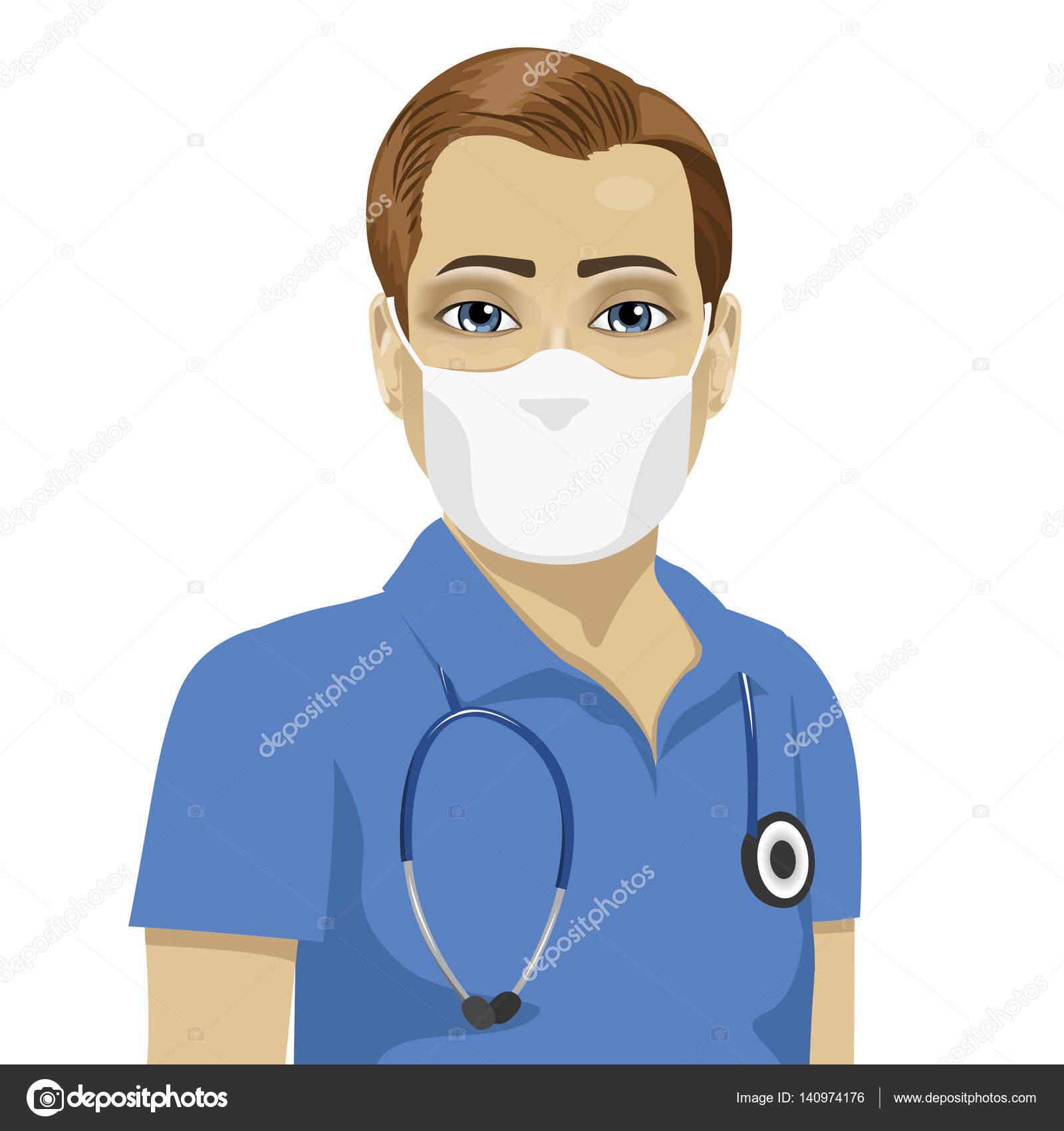détaillant original de premier ordre meilleur en ligne Jeune infirmier portant un masque chirurgical antiviral ...