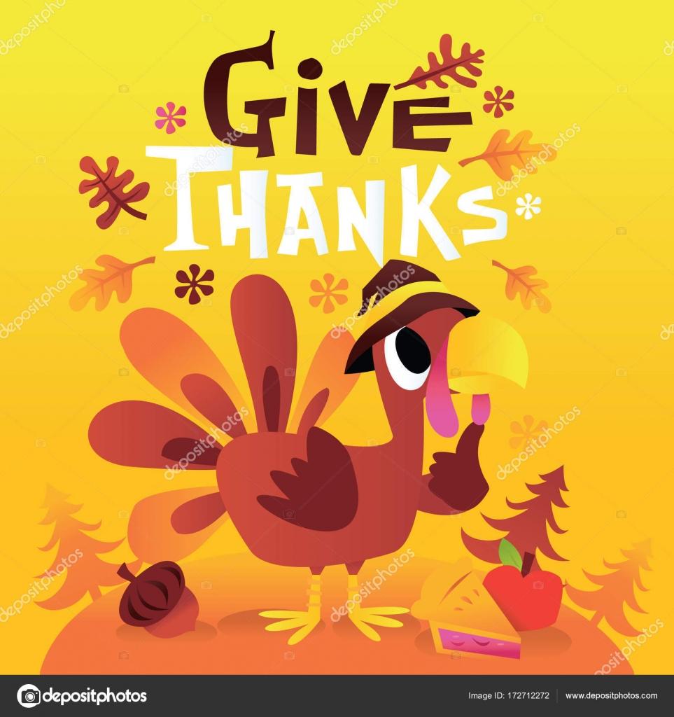 Fotos Dar Las Gracias Turquía De Dibujos Animados Con