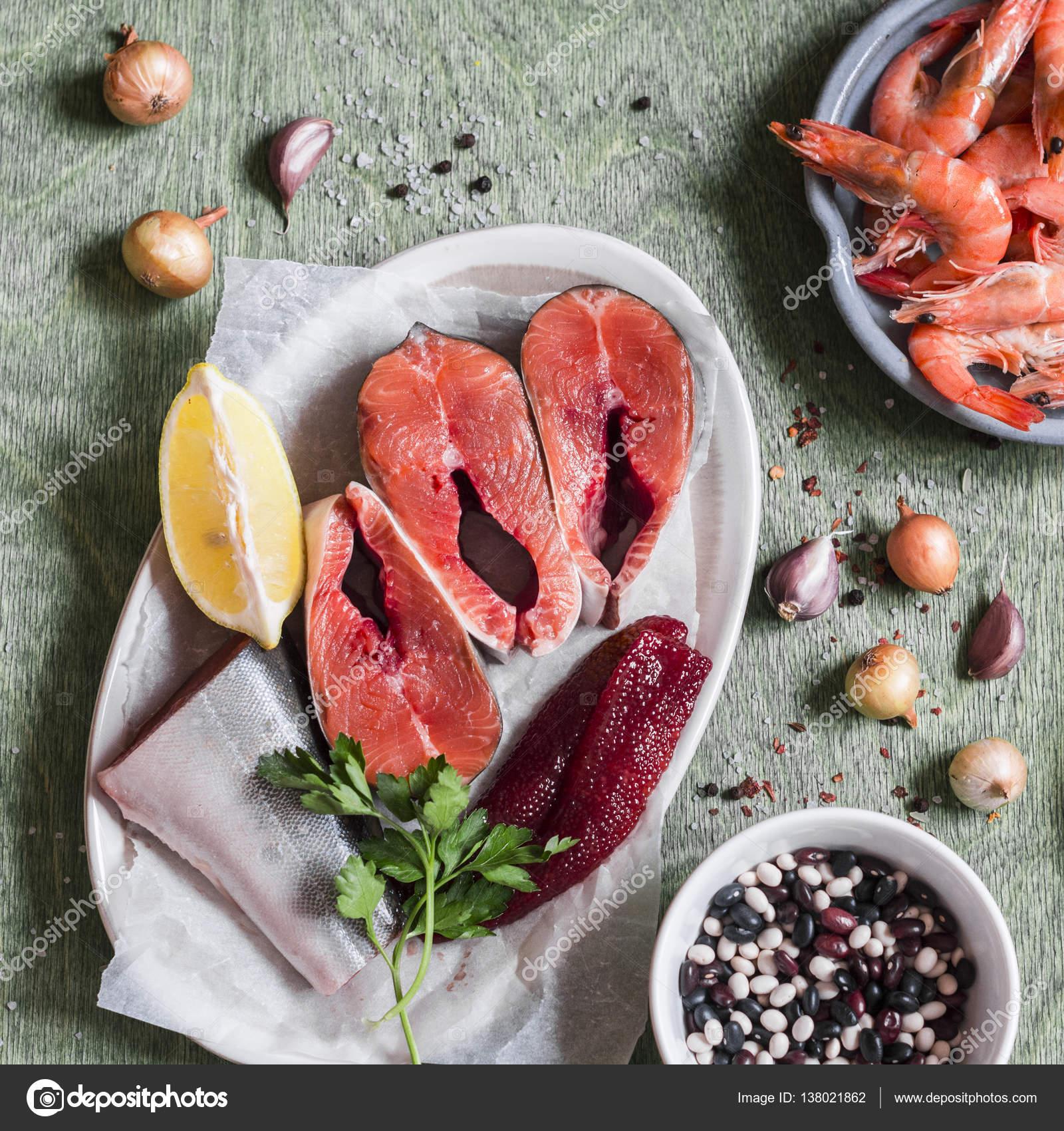 Ingredientes para cocinar comida pescado rojo fresco for Ingredientes para cocinar