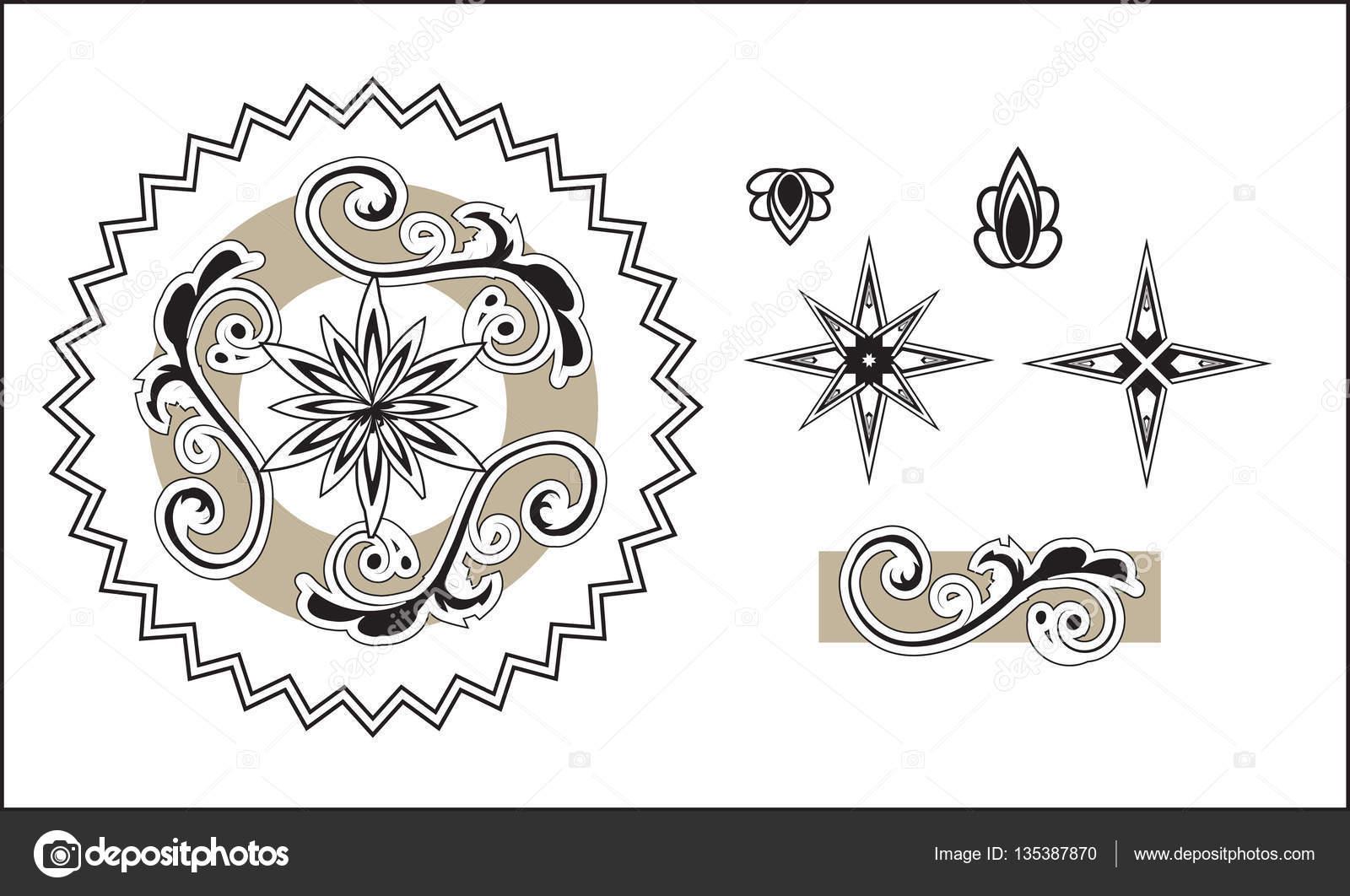 ornamento árabe patrón — Archivo Imágenes Vectoriales © Lollitta ...