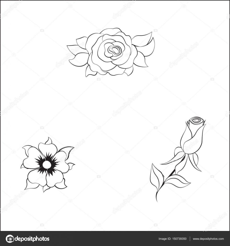 Boyama çiçek Gül Stok Vektör Lollitta 150739350
