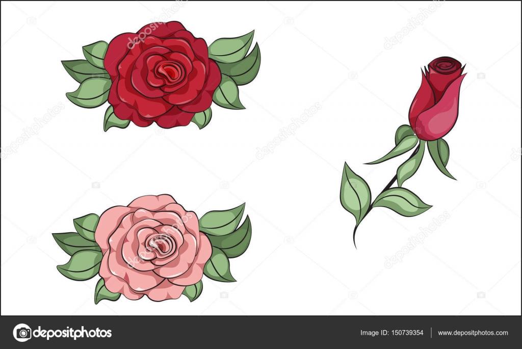 çiçek Boyama Gül Stok Vektör Lollitta 150739354