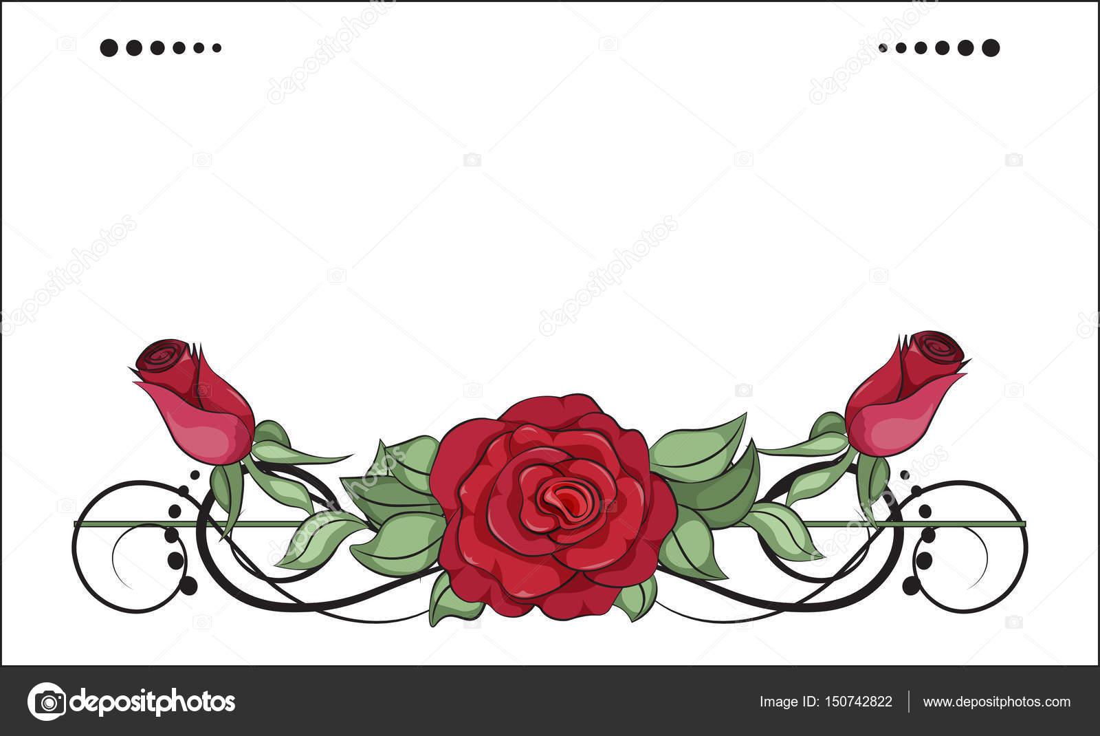 Kleurplaten Roos.Bloem Roos Kleurplaten Stockvector C Lollitta 150742822