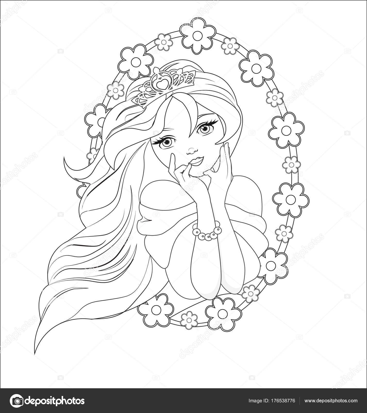 Kleurplaten Prinsessen Assepoester.Prinses Dromen Kleurplaten Stockvector C Lollitta 176538776