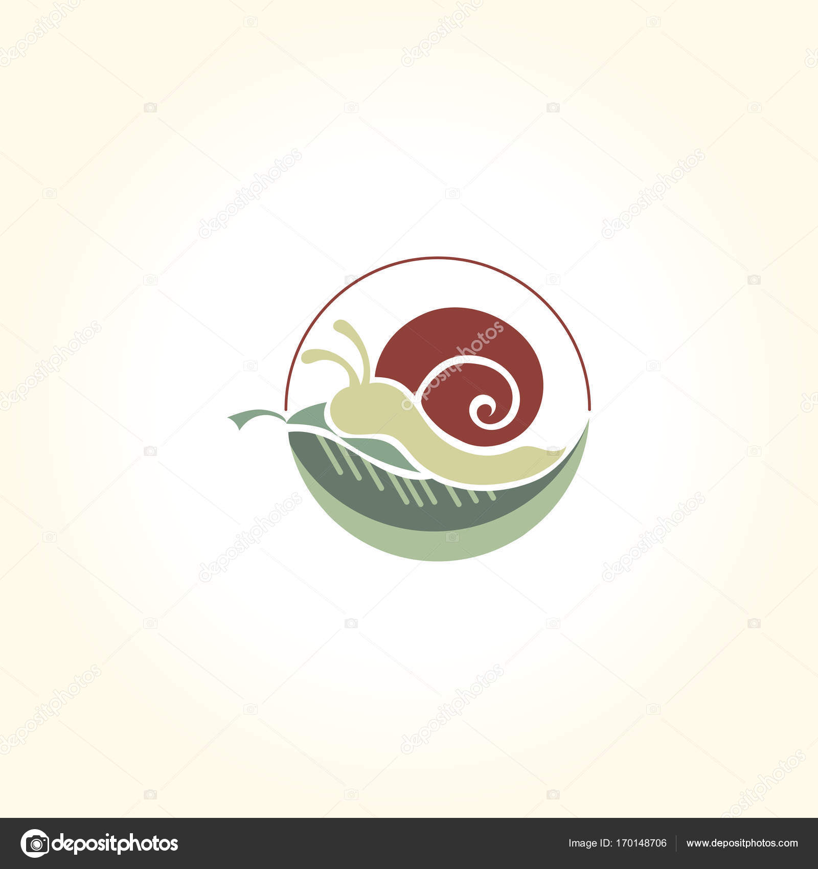 snail logo abstract design vector template negative space style wild