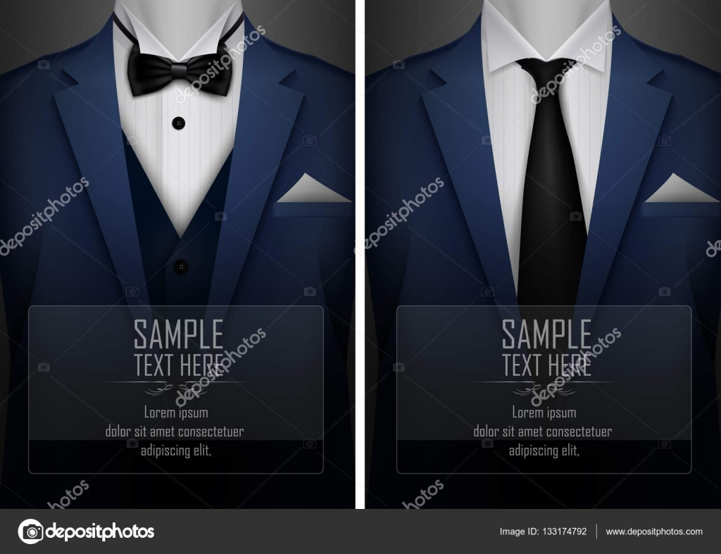 Set of business card templates with suit and tuxedo and place for set of business card templates with suit and tuxedo and place for text for you magicingreecefo Image collections