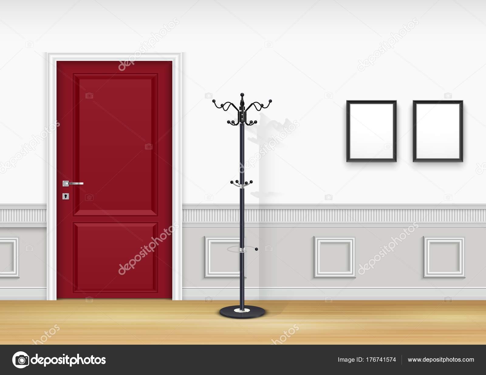 Vector Illustration Living Room Interior Lantern Frames White Wall ...