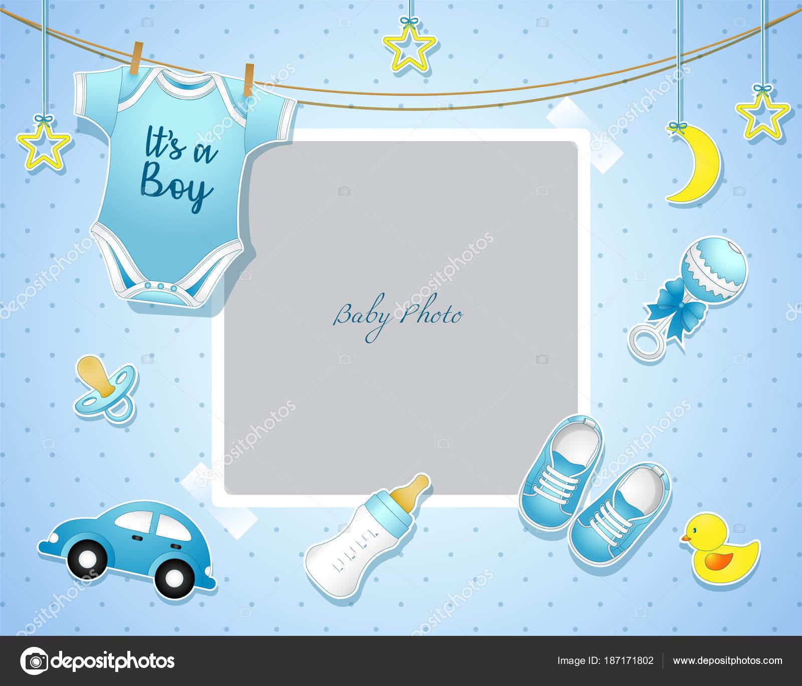 Plantillas Invitacion Baby Shower Niña Ilustración Vector