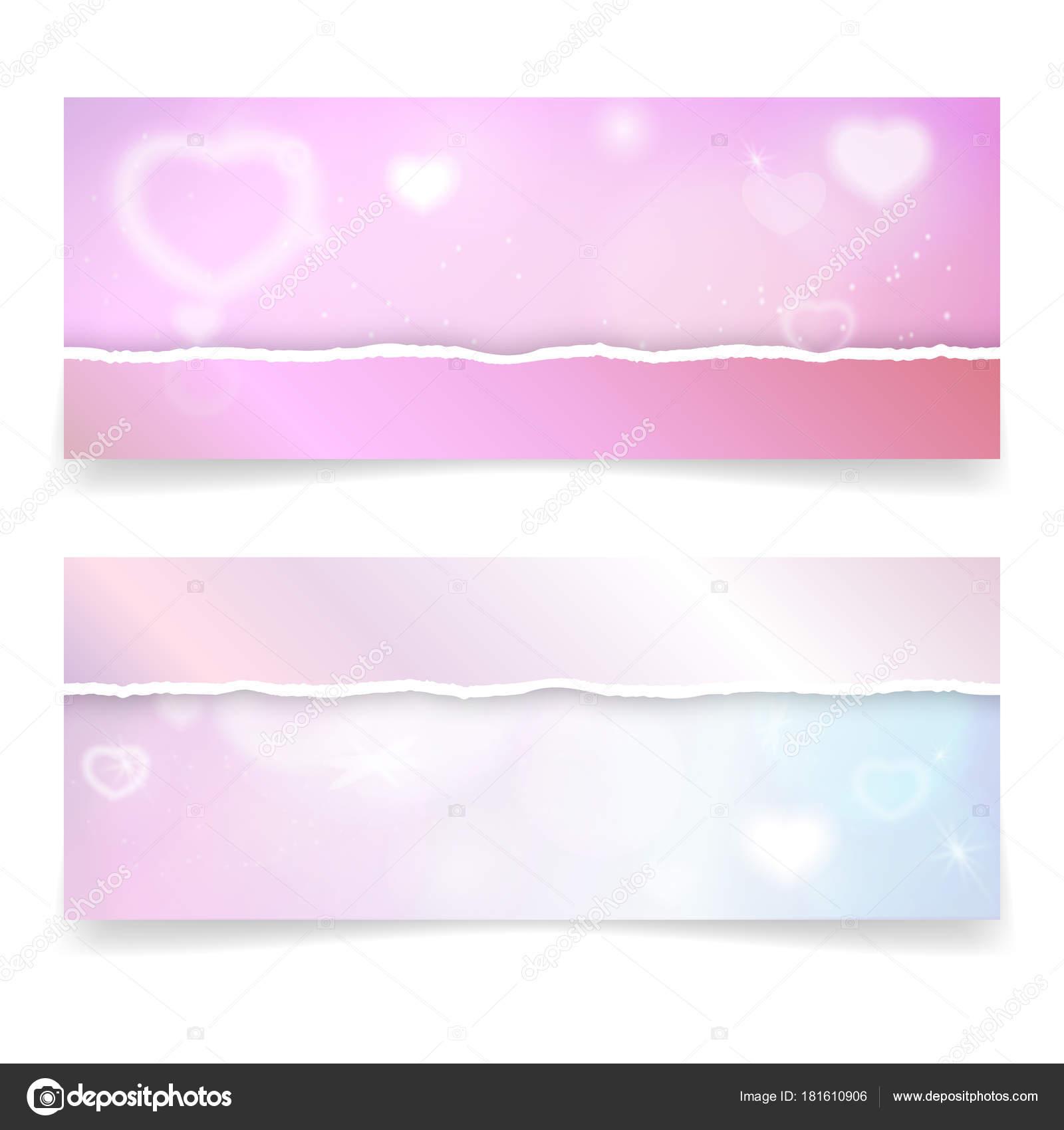Valentines Tag Banner Vorlage mit Herzen und Licht-Effekte. Vektor ...