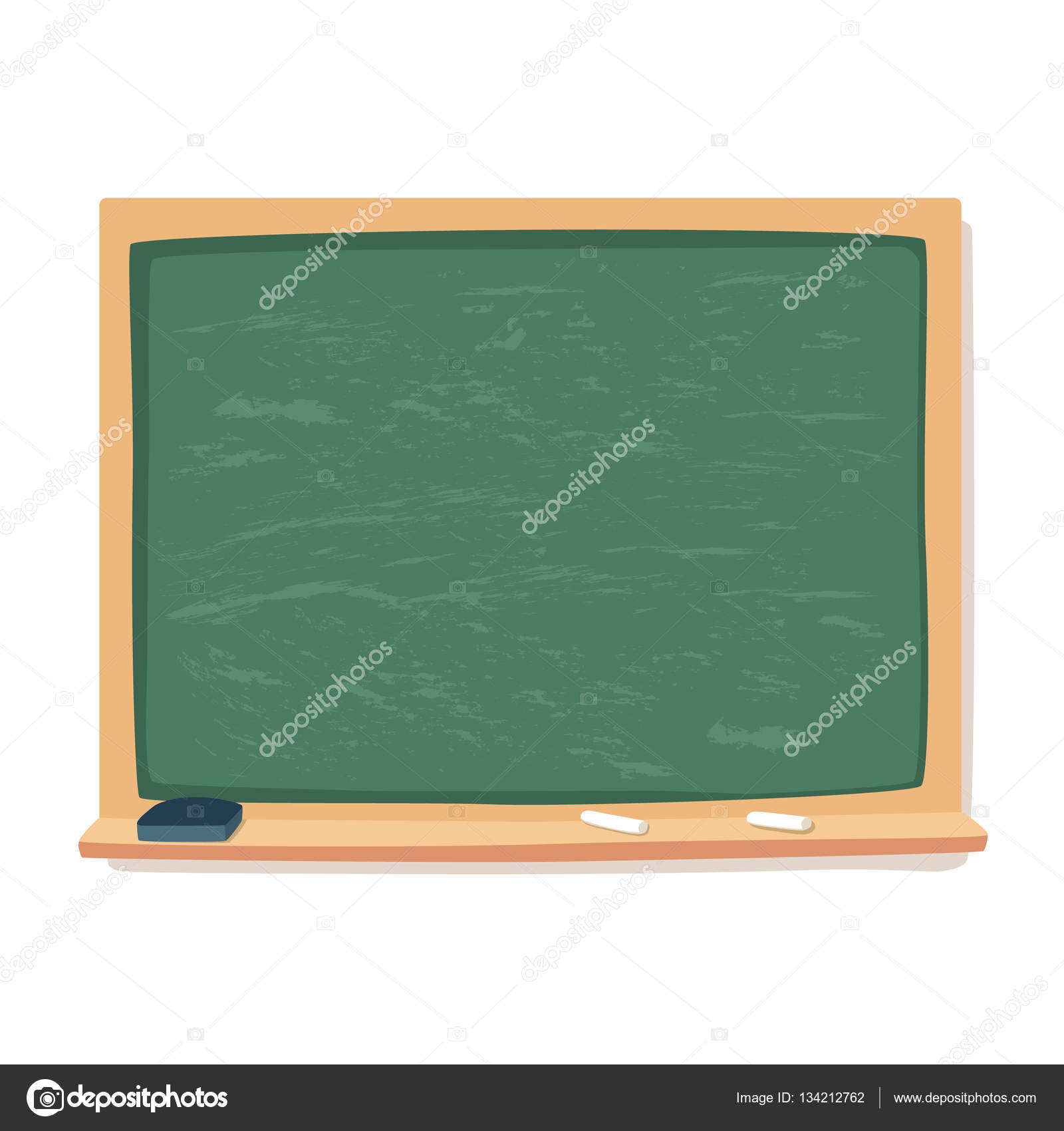 green blackboard chalk and eraser school supplies vector stock rh depositphotos com chalk vector free download chalk vector free