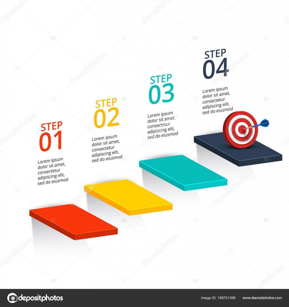 Infografía Resumen número plantilla opciones — Vector de stock ...