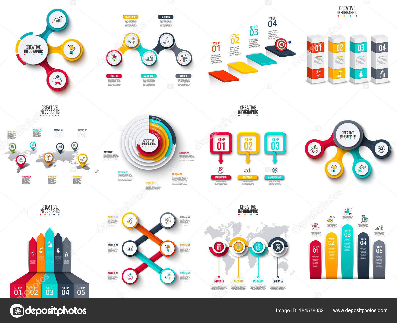 Vector infographics diagram chart graph and presentation vector infographics diagram chart graph and presentation business report with 3 ccuart Images