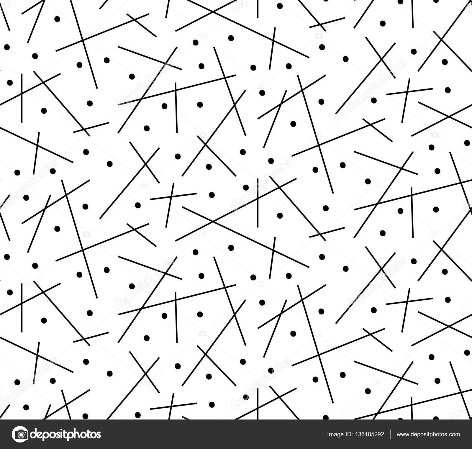 Vector abstracto fondo blanco sin costuras de líneas negras ...