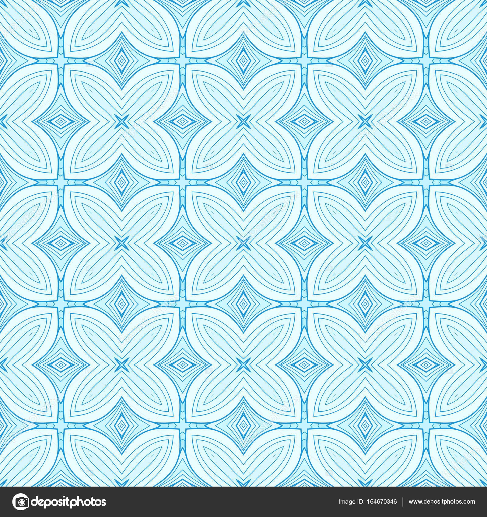 レトロなブルーのシームレスなベクトルの壁紙 ストックベクター
