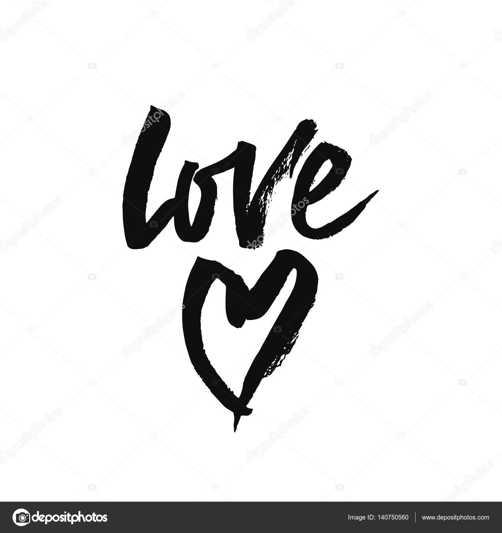Amor Romantica Frase Manuscrita Vector De Stock C Maroshka 140750560