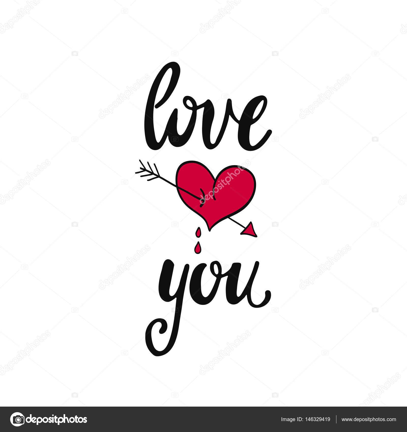 Ti Voglio Bene Frase Scritta Romantica Vettoriali Stock