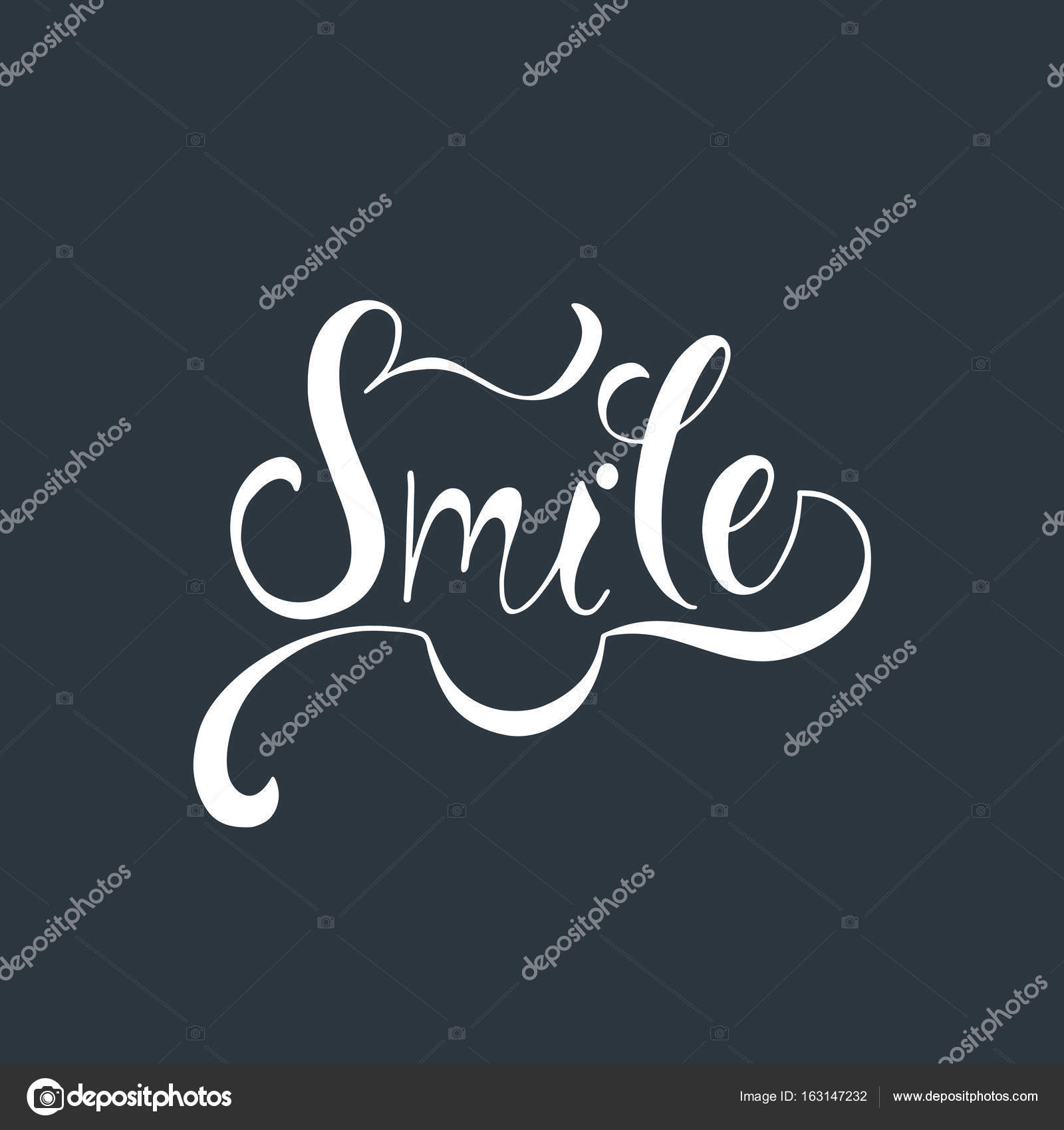 Smile Inspirational Quote About Happy Stock Vector Maroshka