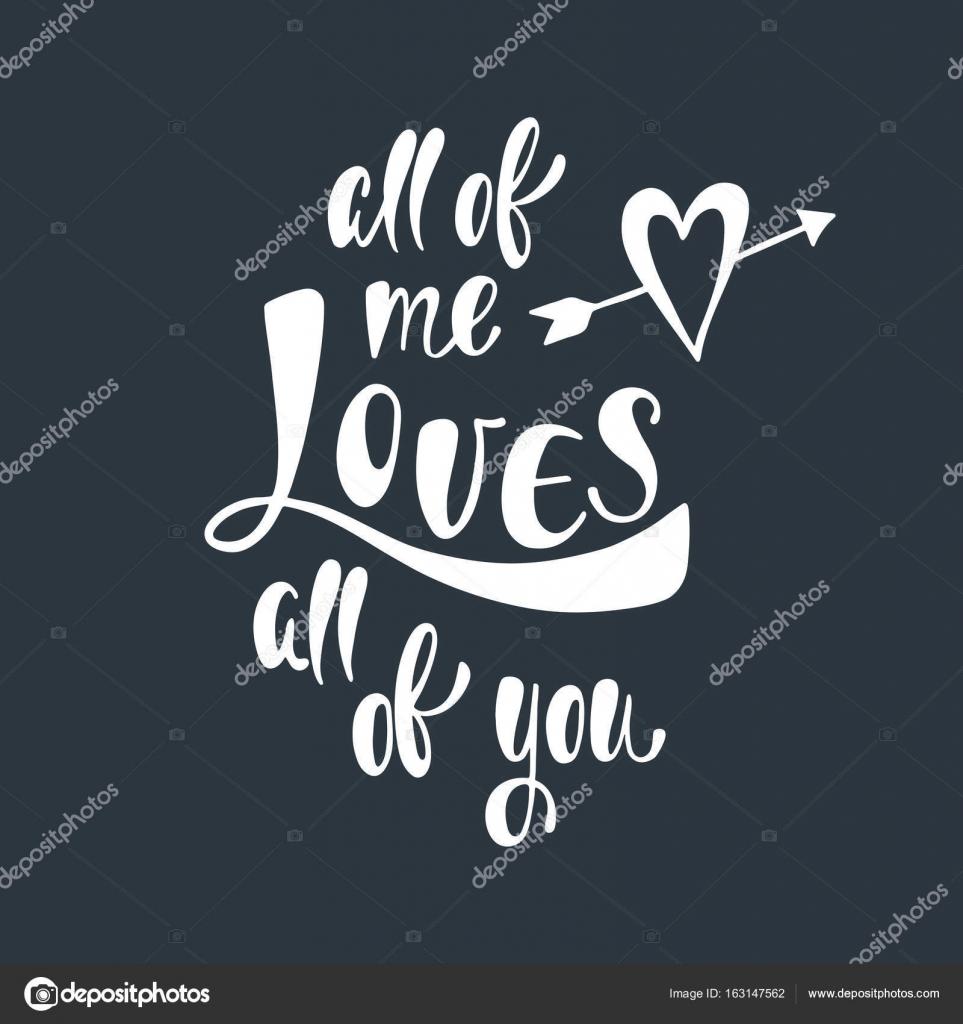 Todos Me Encanta Todos Ustedes Frase Manuscrita Romantica Sobre El
