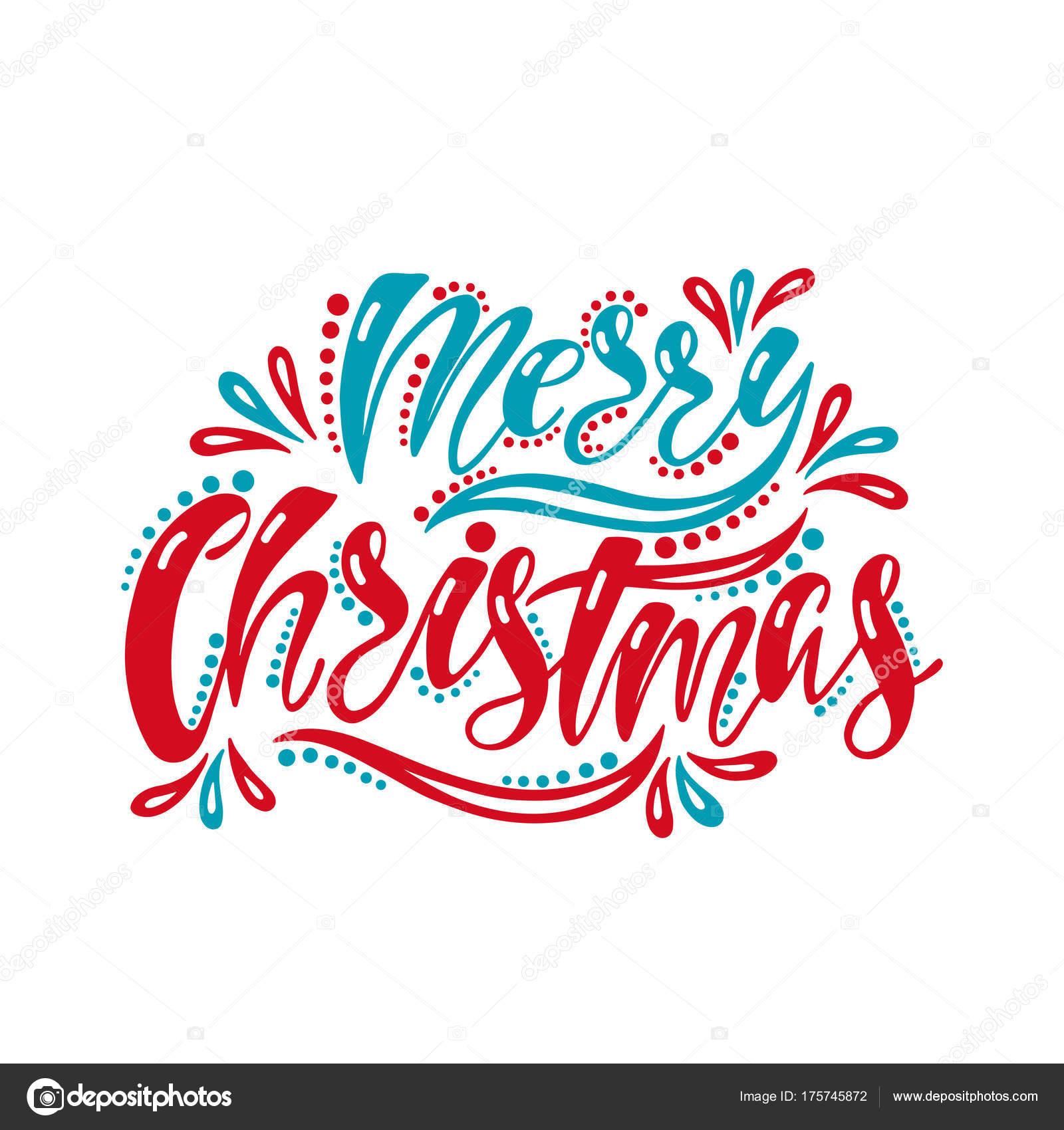 Frohe Weihnachten. Handschrift-Inschrift für Einladung, Grußkarte ...