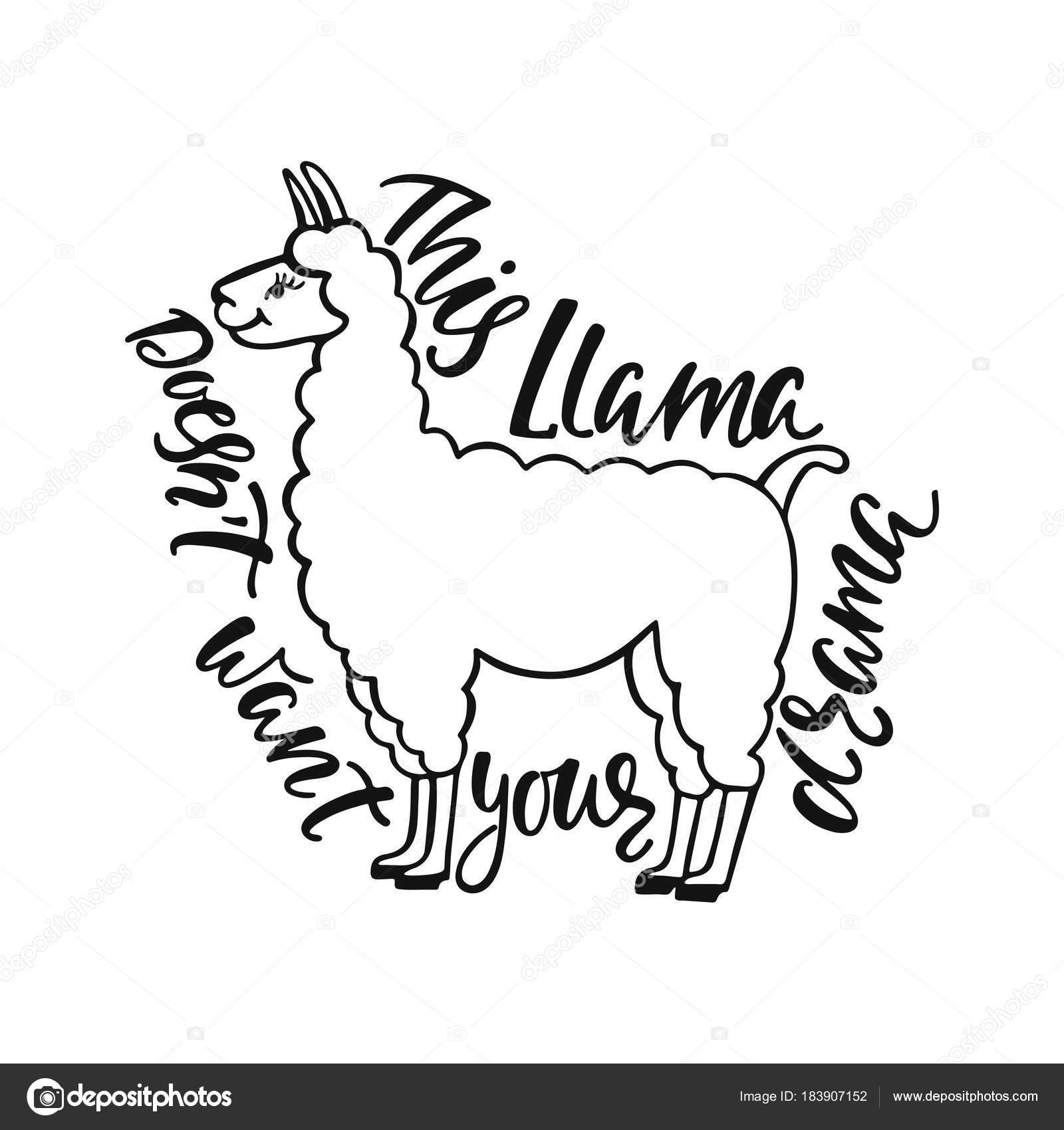 Dieses Lama Will Nicht Ihr Drama Hand Inspirieren Lassen Zitat über