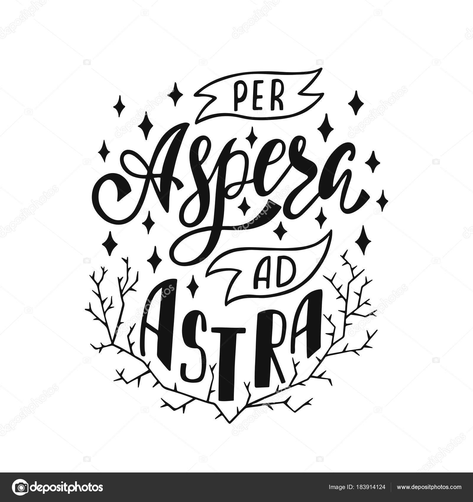 отель Per Astra объявления Aspera латинской фразы означает