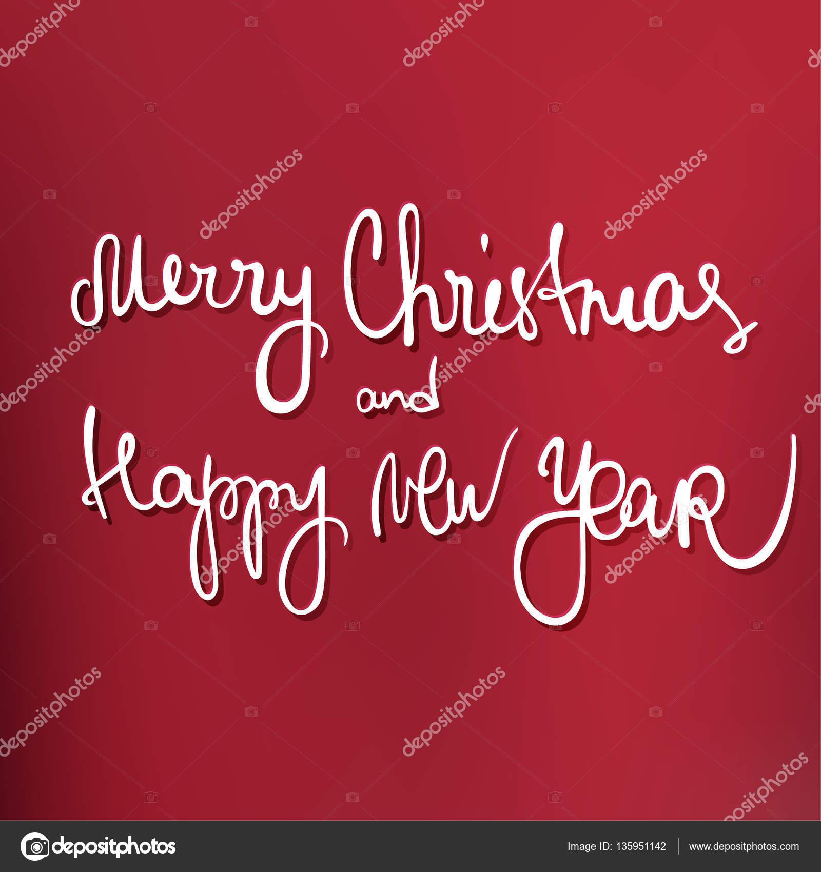 Frasi Natale E Buon Anno.Frase Di Buon Natale E Felice Anno Nuovo Vettoriali Stock