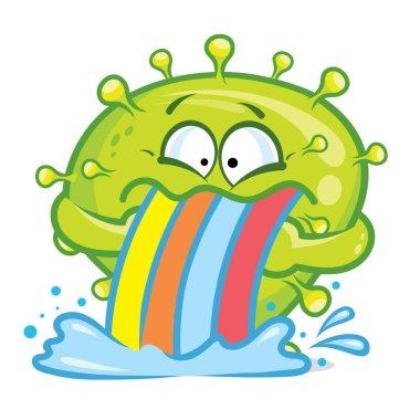 Coronavirus funny emoji character design