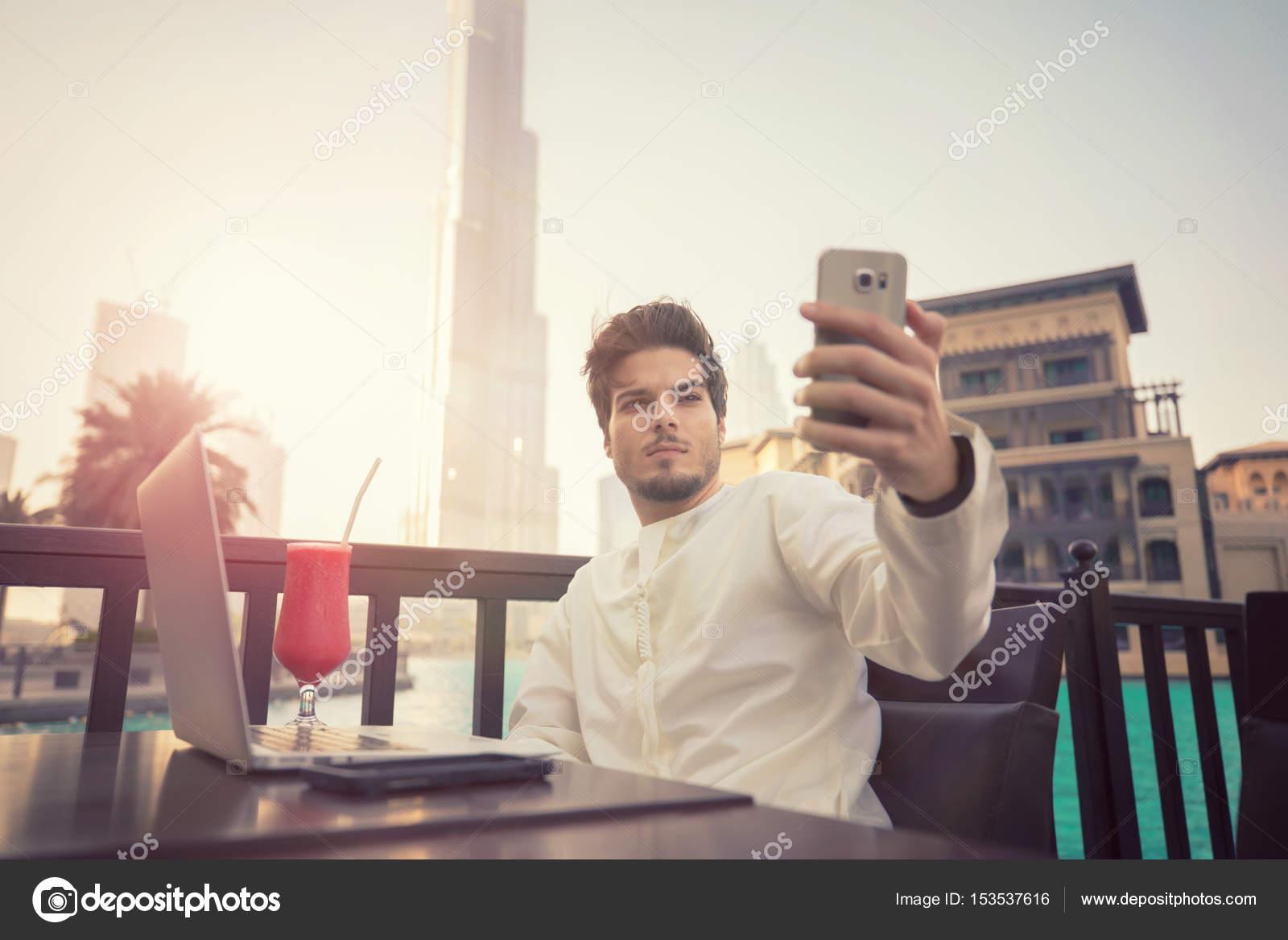 arab selfie Young