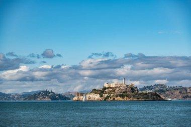 San Francisco, California, USA - November 2017: Alcatraz Island from pier 39.