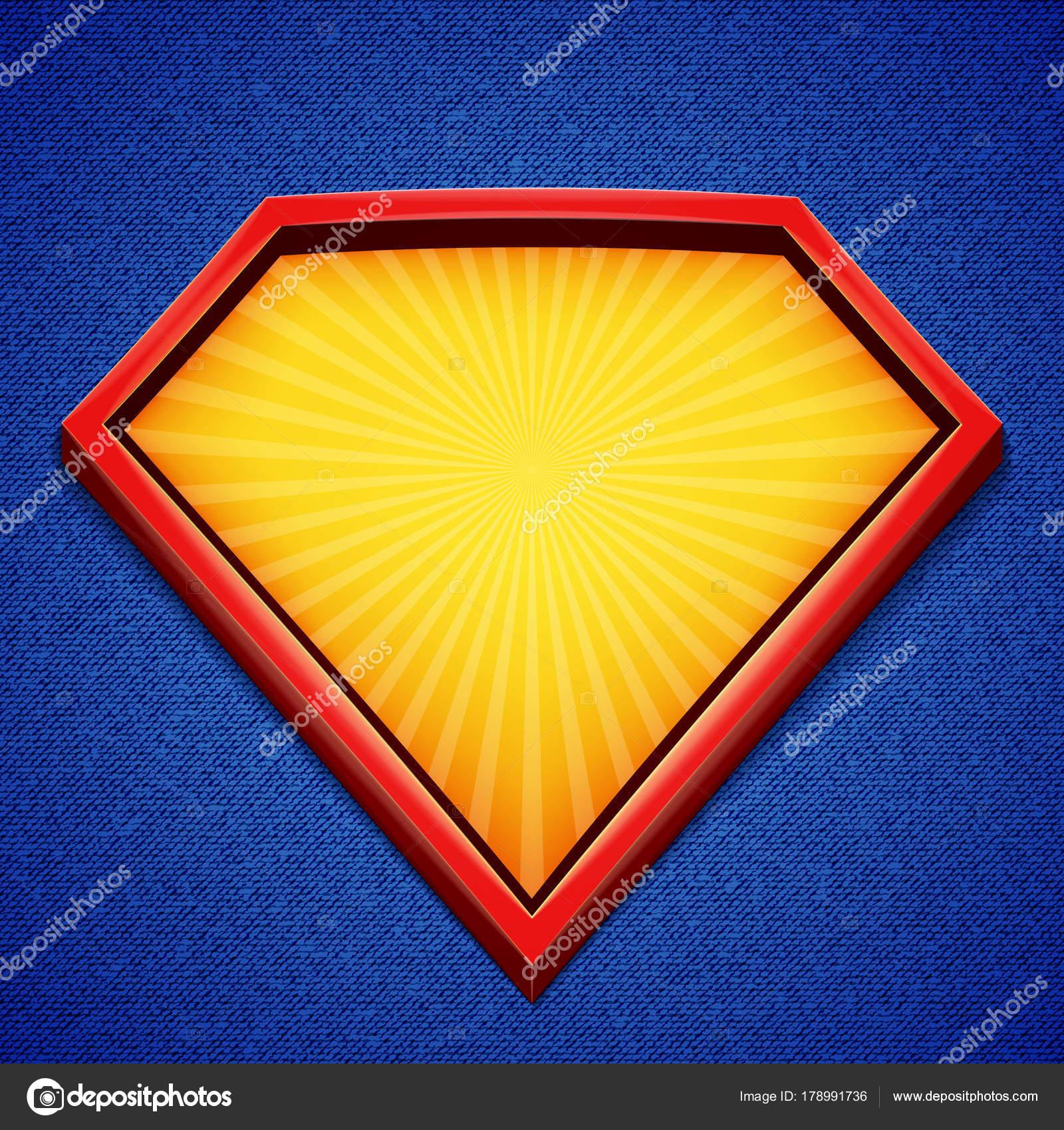 スーパー ヒーローの背景 スーパー ヒーローのロゴのテンプレート 赤