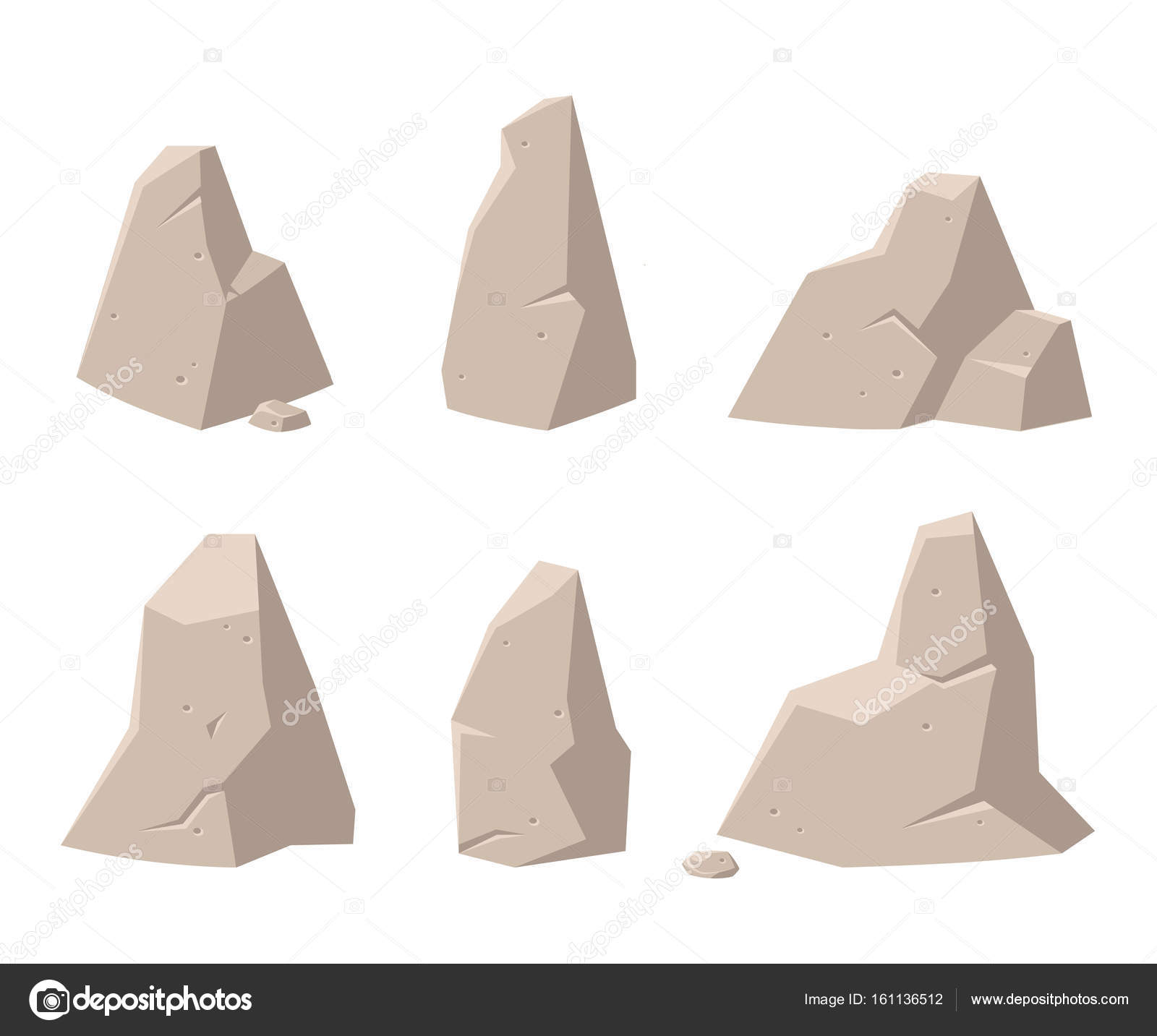 game backgrounds. set of rocks and stones for games. gui elements