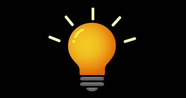 Žárovka na černém pozadí. Myšlenka pop-up. Myšlení. Osvětlení žárovka