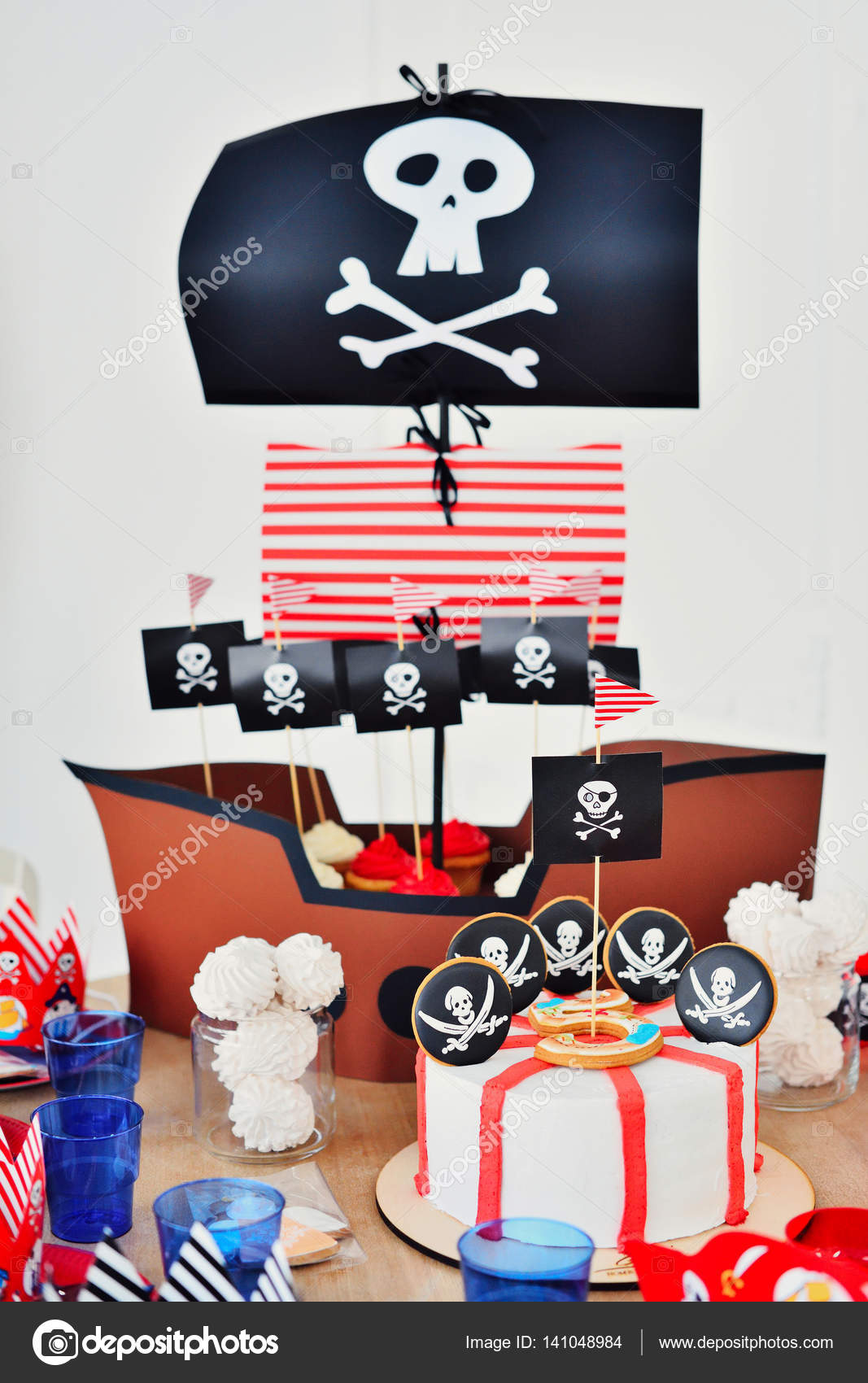 Pirate Party Decorations For Birthday Stock Photo C Nosenkoos