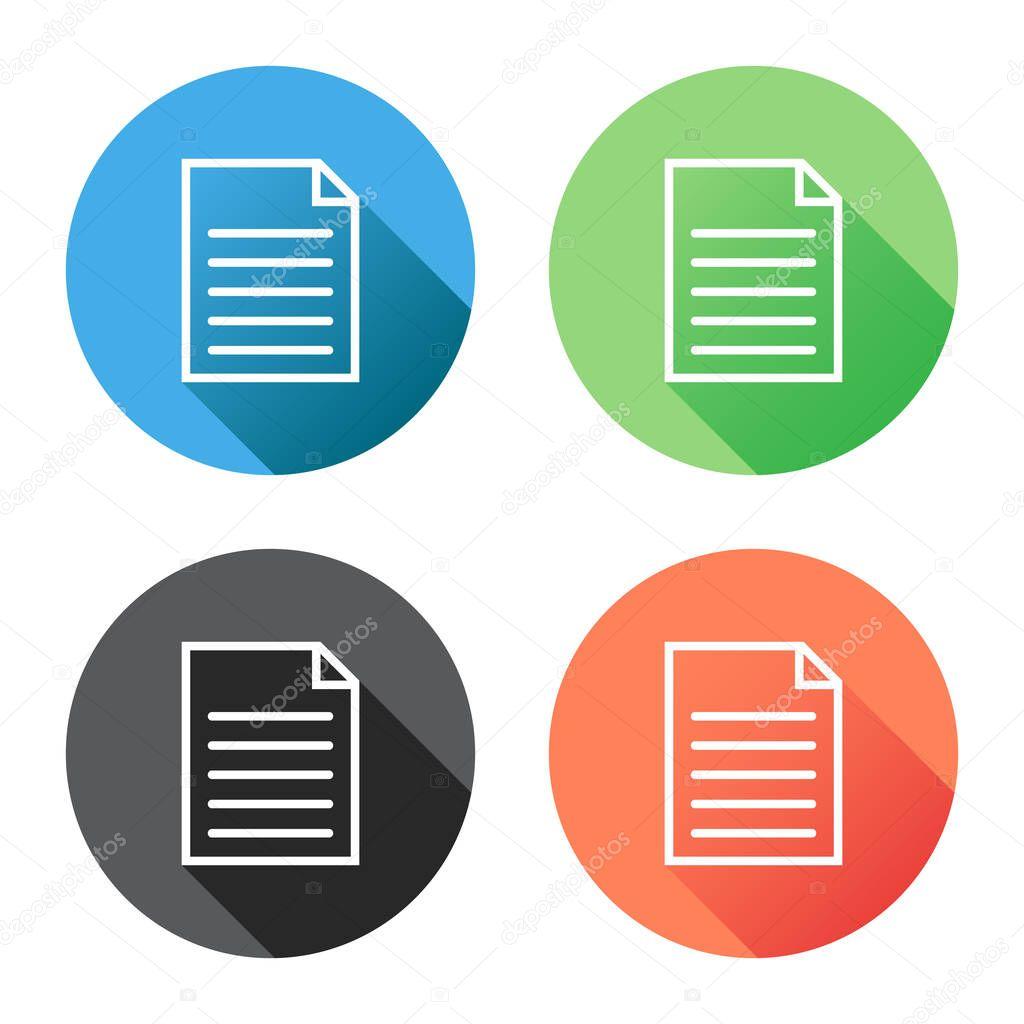 Document icon vector flat illustration. Isolated documents ...  Document Symbol