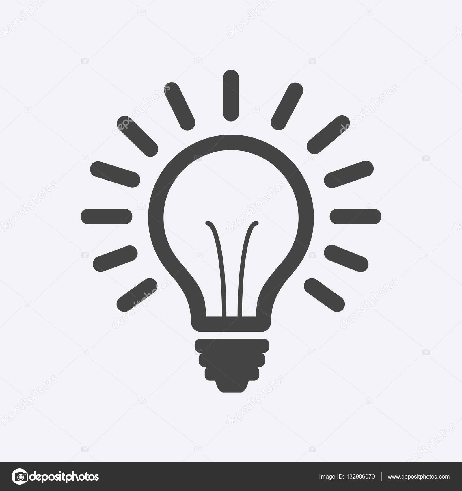 Light Bulb Line Icon Vector Isolated On White Background Idea Sign Solution Thinking Concept Lighting Electric Lamp Illustration In Flat Style For