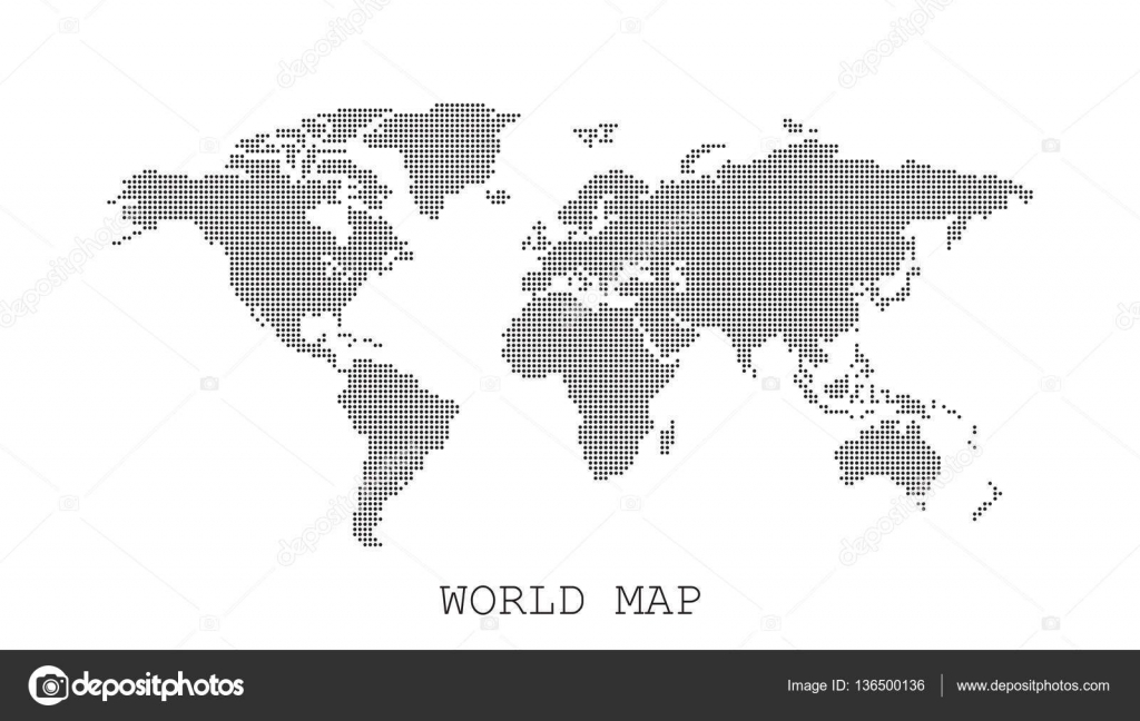 Dotted blank black world map isolated on white background world dotted blank black world map isolated on white background world map vector template for website infographics design flat earth world map with round dots gumiabroncs Choice Image