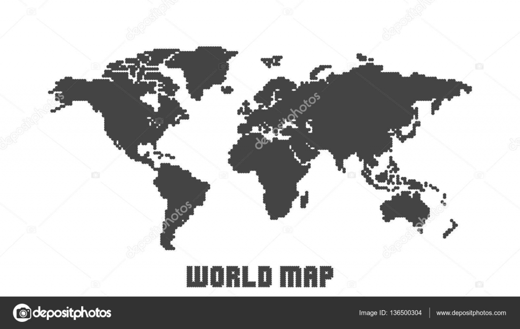 Dotted blank black world map isolated on white background world map dotted blank black world map isolated on white background world map vector template for website gumiabroncs Choice Image