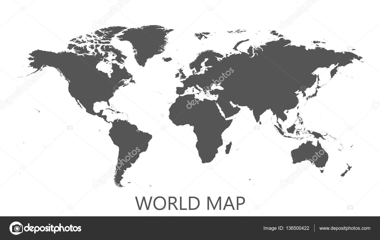 Blank black world map isolated on white background world map vector blank black world map isolated on white background world map vector template for website infographics design flat earth world map illustration gumiabroncs Images